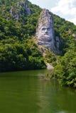 Escultura de la roca de Decebal Imagen de archivo libre de regalías