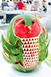 Escultura de la sandía Foto de archivo libre de regalías