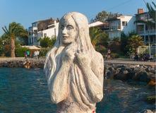Escultura de la sirena en Buyukada, Turquía Fotos de archivo libres de regalías