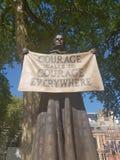 Escultura de la sufragista en Londres Foto de archivo libre de regalías