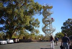 Escultura de la torre de la DNA en Perth Fotografía de archivo