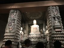 Escultura de las reliquias culturales del museo provincial de la historia de Shaanxi foto de archivo