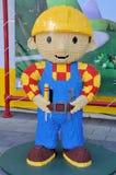 Escultura de Lego de Bob el constructor Fotos de archivo libres de regalías