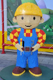 Escultura de Lego de Bob o construtor Fotos de Stock Royalty Free