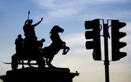 Escultura de Londres - de Boudica Imagen de archivo libre de regalías