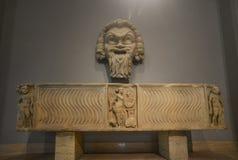 Escultura de mármore antiga em museus do Vaticano foto de stock