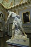 Escultura de mármore David por Gian Lorenzo Bernini na galeria Borghese foto de stock royalty free