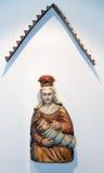 Escultura de madeira na ilha de Slanica, Eslováquia Foto de Stock Royalty Free
