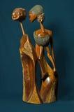 Escultura de madera de Mozambique fotografía de archivo