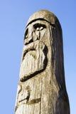 Escultura de madera del guerrero Fotos de archivo libres de regalías