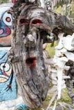 Escultura de madera espeluznante Fotografía de archivo libre de regalías