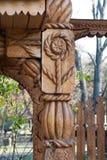 Escultura de madera tradicional Imagen de archivo libre de regalías
