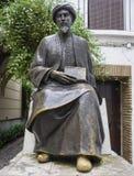 Escultura de Maimonides, filósofo judaico medieval de Sephardic, Córdova, Espanha fotografia de stock