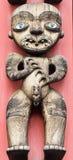 Escultura de Maki Ancestor no polo de Maori Totem Imagens de Stock Royalty Free