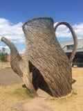Escultura de mimbre de las ramitas en Wedgwood imagen de archivo libre de regalías