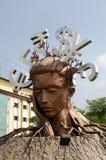 Escultura de Mindspace, Hyderabad Imagens de Stock