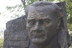 Escultura de Mustafa Kemal Ataturk Fotografía de archivo libre de regalías