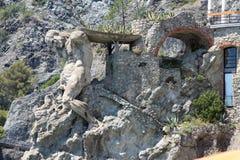 A escultura de Netuno em Monterosso Cinque Terre Fotografia de Stock
