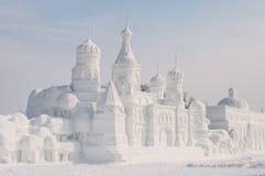 Escultura de neve Fotos de Stock Royalty Free