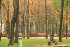 Escultura de niños en el parque de Gorki Imagenes de archivo
