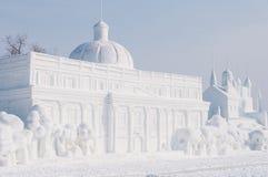 Escultura de nieve Imagen de archivo libre de regalías