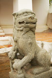 Escultura de pedra do leão Imagens de Stock Royalty Free