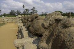 Escultura de pedra na Índia de Chennai foto de stock