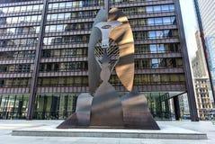 Escultura de Picasso en Chicago foto de archivo