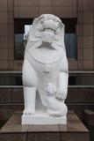 Escultura de piedra 4 del león Fotografía de archivo