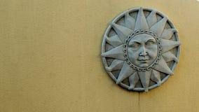 Escultura de piedra de Sun Foto de archivo libre de regalías