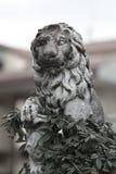 Escultura de piedra de un león Fotos de archivo libres de regalías