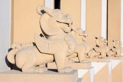 Escultura de piedra del león Fotografía de archivo