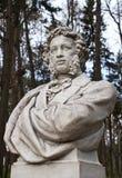 Escultura de Pushkin en el parque Arkhangelskoe Foto de archivo libre de regalías