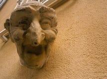Escultura de risa de la cara, Luxemburgo Imagen de archivo libre de regalías