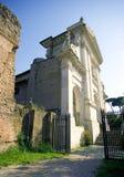 Escultura de Roman Catholicism de la arquitectura de Roma fotografía de archivo