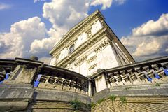 Escultura de Roman Catholicism de la arquitectura de Roma fotos de archivo