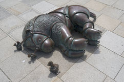 Escultura de Tom Otterness Foto de archivo