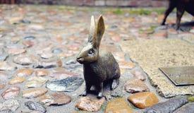 Escultura de um coelho Fotografia de Stock