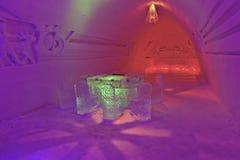 Escultura de um gelo fotografia de stock