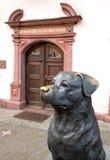 Escultura de um Rottweiler em Rottweil Fotografia de Stock Royalty Free