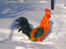 Escultura de un gallo Imagen de archivo libre de regalías