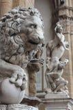 Escultura de un león Florencia imagen de archivo libre de regalías