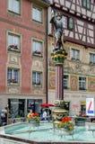 Escultura de un soldado del Confederacy suizo Stein am Rhein, Schaffhausen Suiza fotografía de archivo libre de regalías