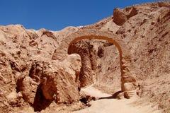 Escultura de Valle Quitor em San Pedro de Atacama fotografia de stock royalty free