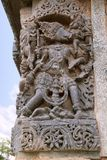Escultura de Varaha, 10o encarnação de Vishnu, templo de Kedareshwara, Halebidu, Karnataka Imagem de Stock Royalty Free