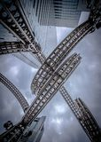 Escultura de Yokohama, espiral da corte do Queens Imagens de Stock Royalty Free