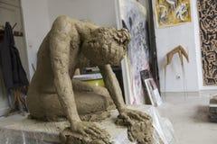 A escultura dedicou à convenção de Istambul para direitos do ` s das mulheres fotografia de stock royalty free