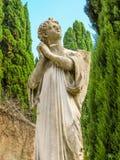 Escultura del ángel de rogación Imagen de archivo libre de regalías
