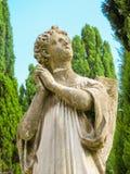 Escultura del ángel de rogación Fotografía de archivo