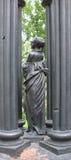 Escultura del arrabio de una muchacha Imagenes de archivo